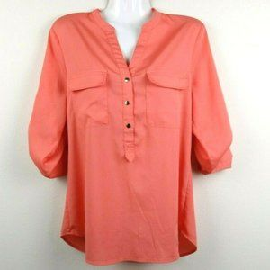 Ivanka Trump Long Sleeve Roll Tab Blouse